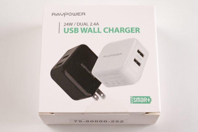 RAVPower(ラブパワー)の2ポートUSB充電器