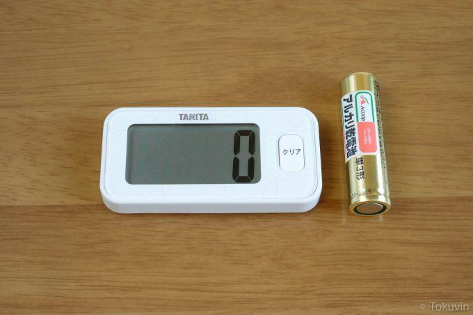 乾電池とサイズ比較