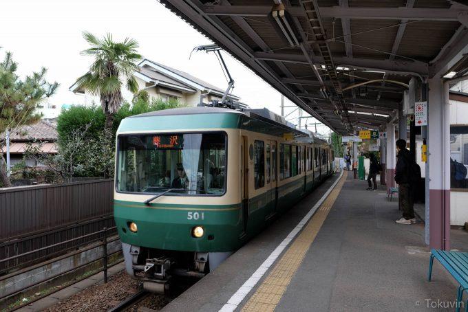 本日2本目の電車(X-T1 + XF16mm F1.4R)