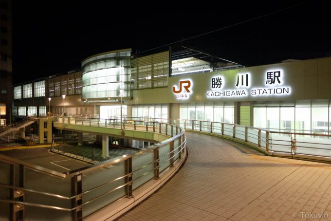 夜明け前のJR勝川駅