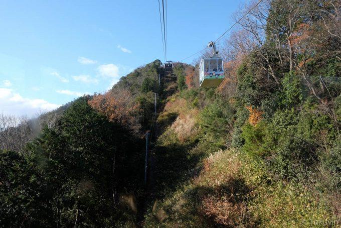 八幡山ロープウェーから山頂方向を望む(X-T1 + XF16mm F1.4R)
