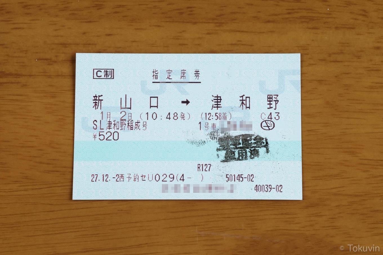 往路の指定席券。