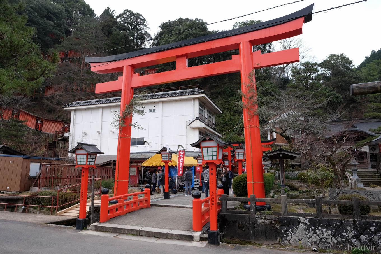 太皷谷稲成神社の鳥居。