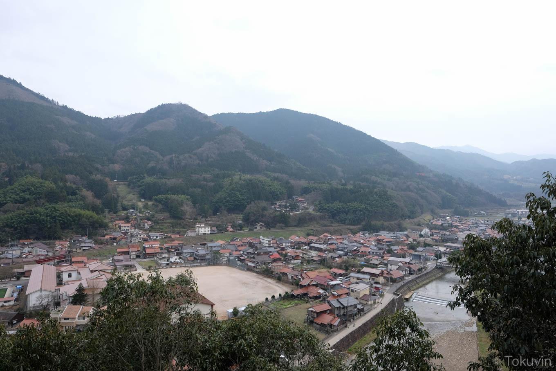 津和野の街を望む。