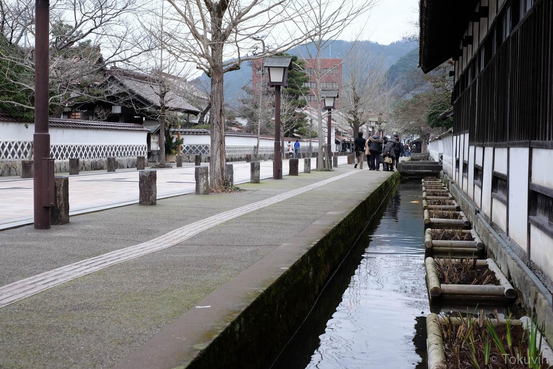 津和野の街並み。