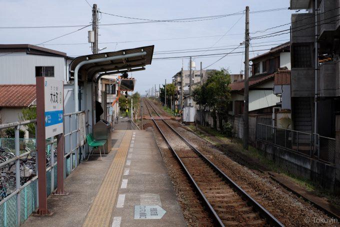 木太町駅ホーム(X-T1 + XF35mm F1.4R)