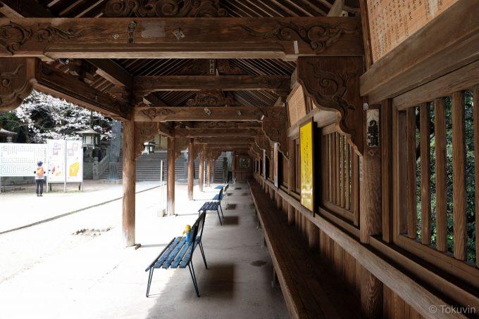 旭社前の廻廊