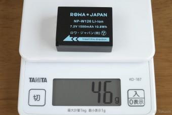 互換バッテリーの重量