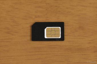 標準SIM変換アダプターを装着