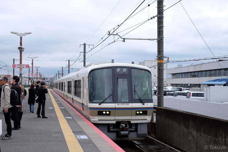 普通列車の亀岡行き 1245M。