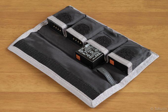 DSLRバッテリーホルダー4 収納例