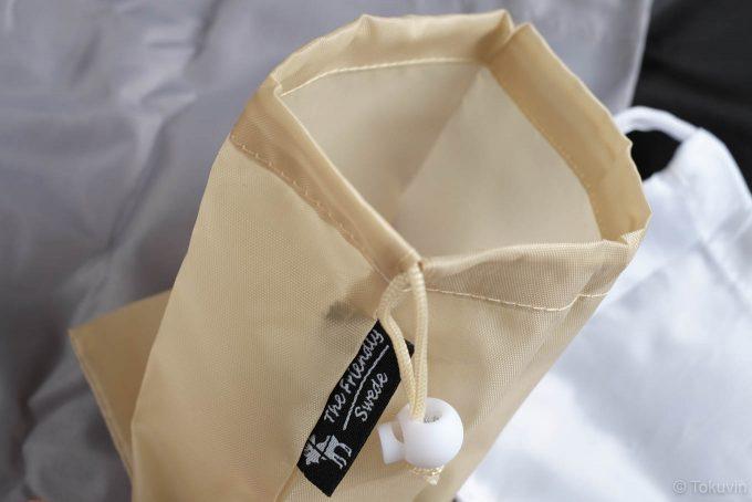 巾着袋のアップ
