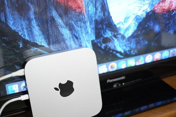 テレビ出力に成功したMac mini
