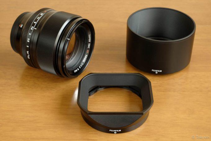 XF56mmと付属フード&LH-XF23