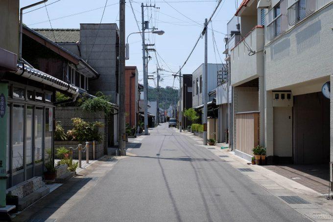 志渡寺の門前通り