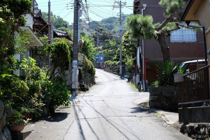 朝日山公園への道路