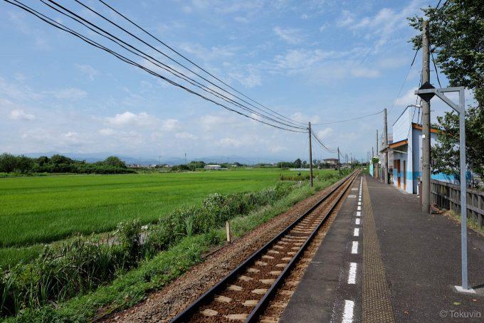 阿波川端駅のホーム