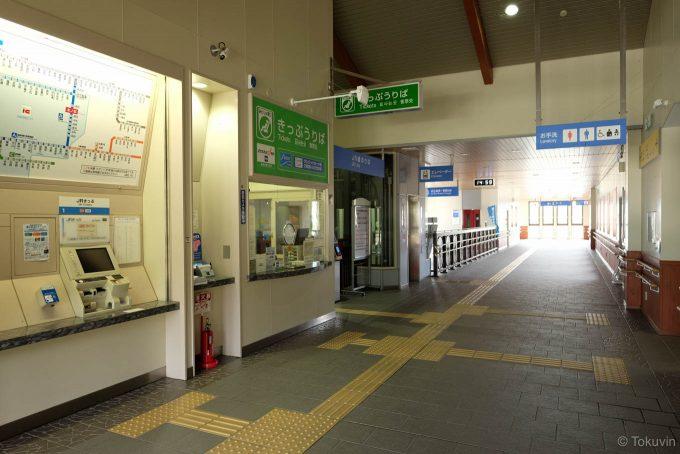 木ノ本の駅舎内