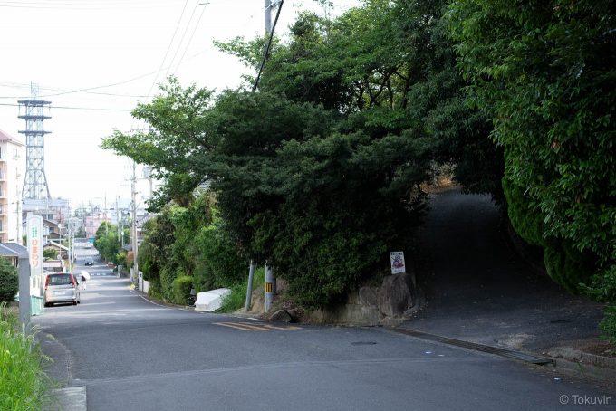 前山公園への入り口
