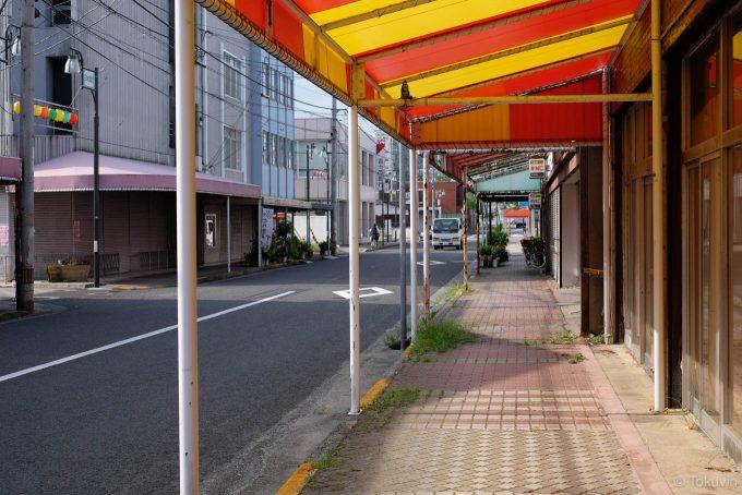 三本松の商店街を歩く