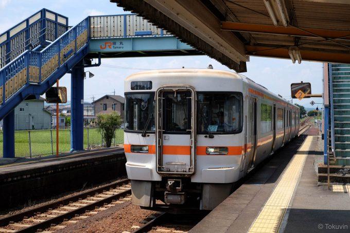 田丸駅に入線する921C