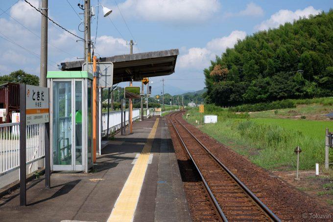 外城田駅ホーム