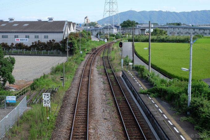 吉成駅跨線橋から徳島方を望む