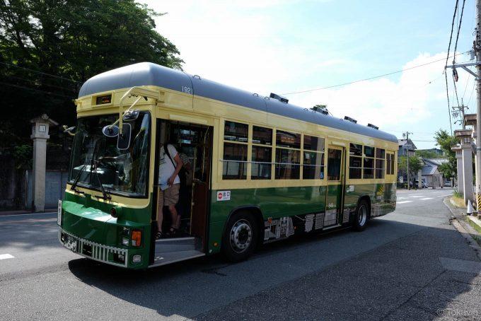 路面電車風のバス