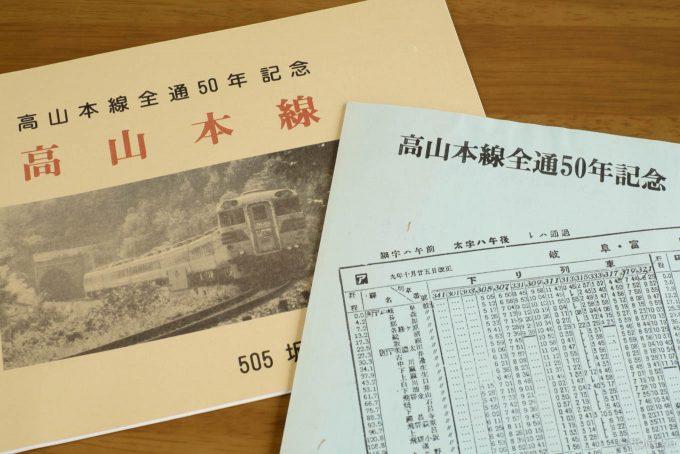 高山本線の全通&全線開業50周年記念の切手帳と絵はがきセット