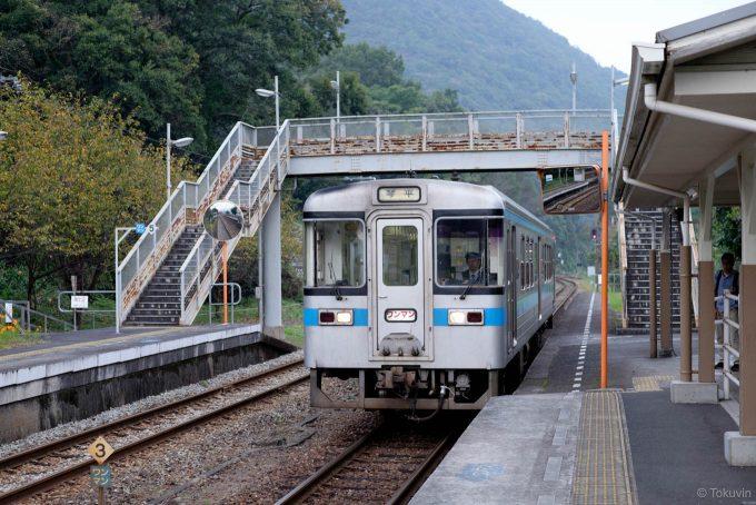 箸蔵駅に入線する琴平行き4238D