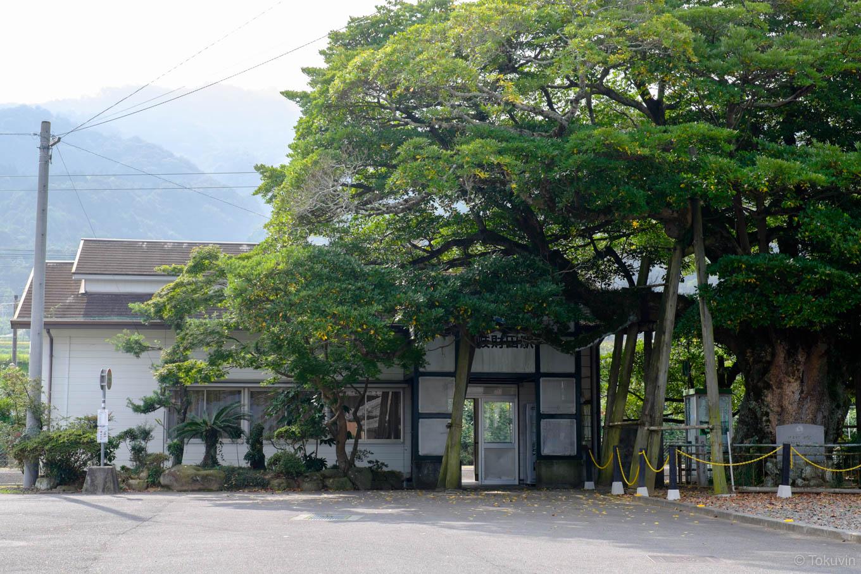 讃岐財田駅舎。