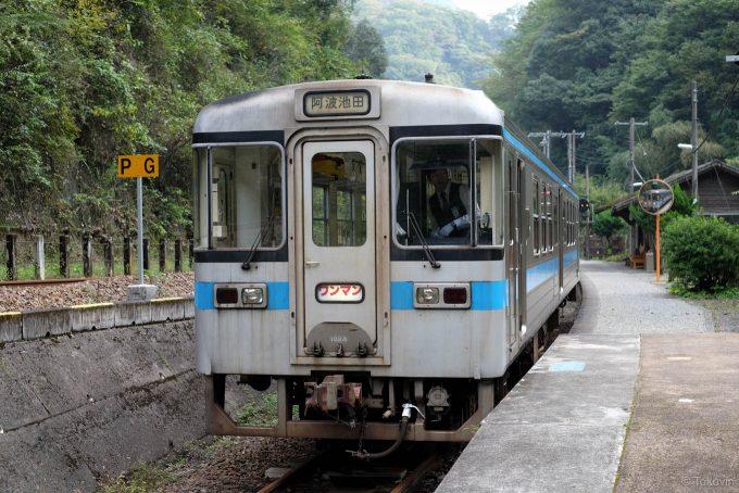 坪尻駅で停車中の阿波池田行き4239D