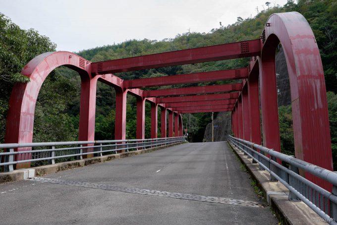 面白い形の保津峡橋