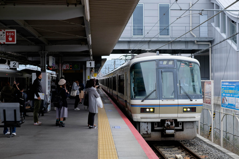 普通列車の京都行き 252M。