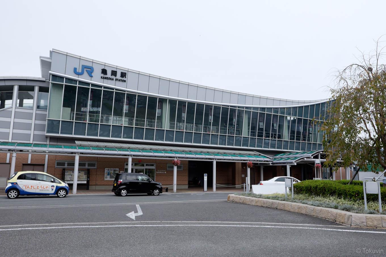 亀岡駅舎。