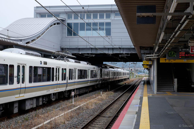 亀岡駅ホーム。
