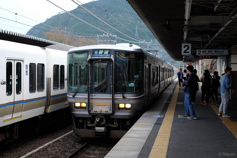普通列車の園部行き 243M。