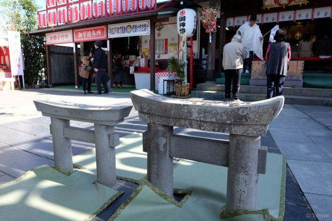 粟嶋神社のミニ鳥居