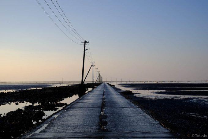 海に消えていく長部田海床路