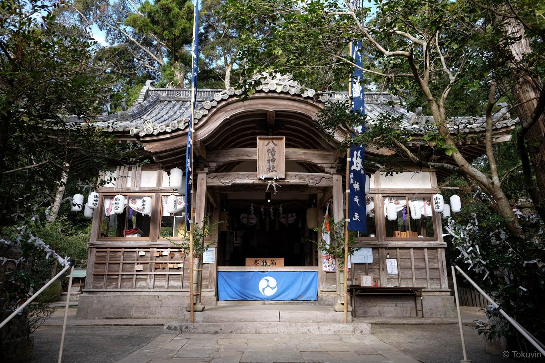 大里八幡神社の拝殿。