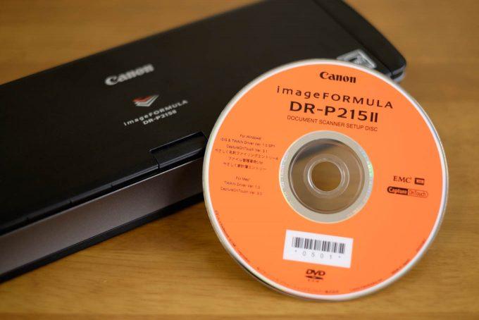 Canon DR-P215IIと付属CD-ROM