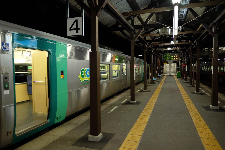 普通列車の海部行き 4525D。