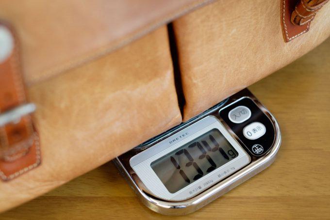 ボノの重量を測定
