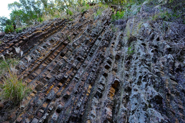化石漣痕の断面。