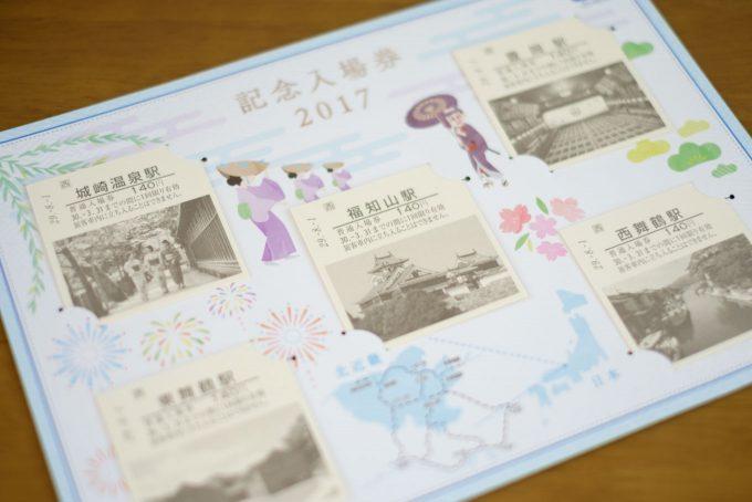 北近畿 記念入場券 2017