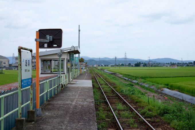 足羽駅ホーム (FUJIFILM X-T1 + XF35mm F1.4R)