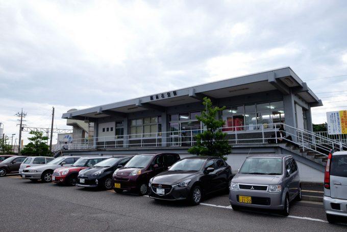 越前花堂 駅舎 (X-T1 + XF16mm F1.4R)