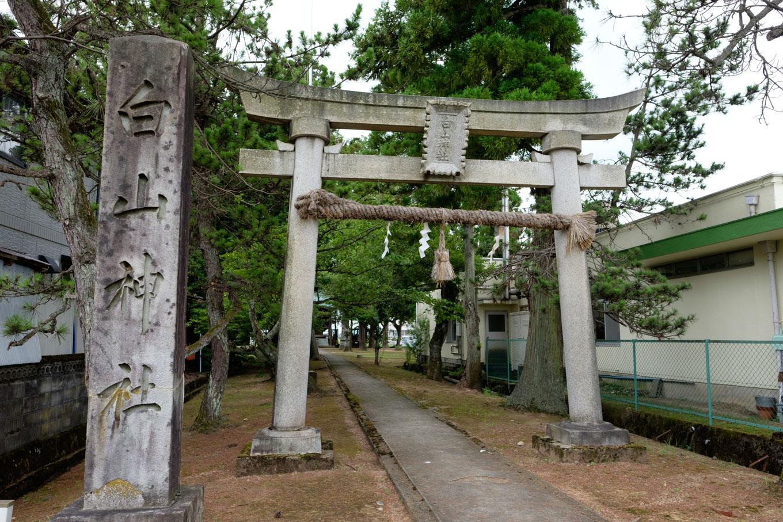 天王町の白山神社。