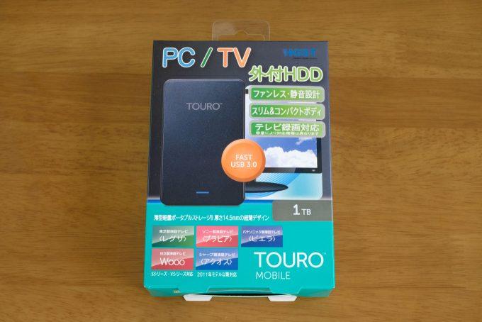 HGST Touro Mobile 1TB パッケージ