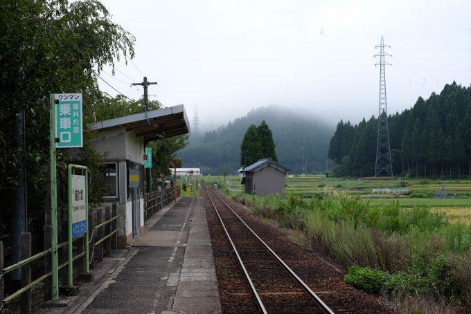 越前大宮駅のホーム (FUJIFILM X-T1 + XF)